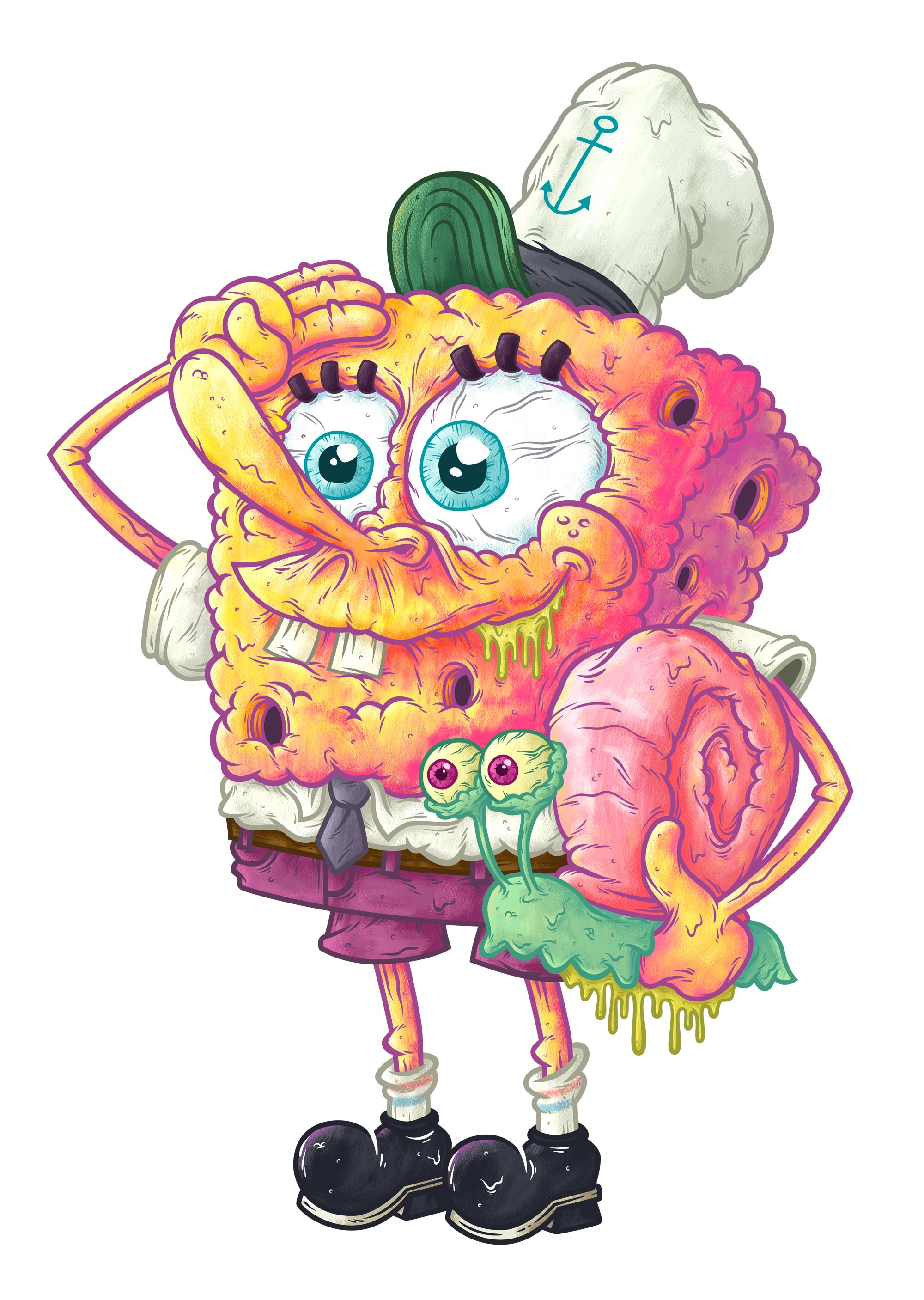 Gary and Bob - Illustration - Nathan Miller - Sponge bob square pants